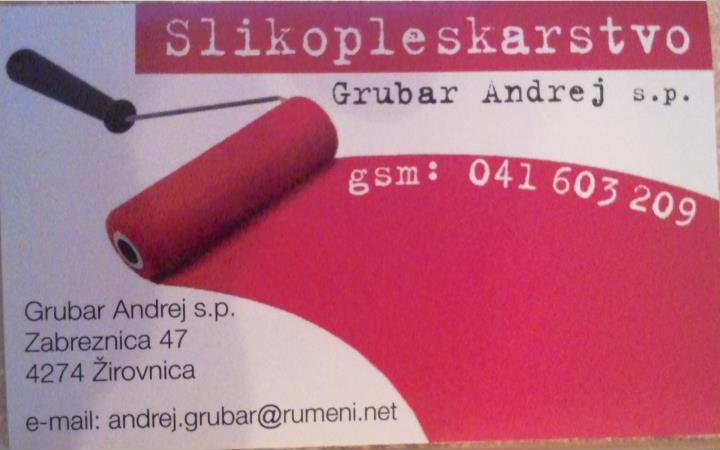 Slikopleskarstvo ANDREJ GRUBAR S.P.